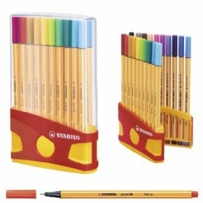 ESTUCHE 20 COLORES COLORPARADE STABILO POINT 88 PUNTA FIBRA