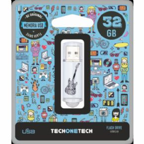 Memoria USB 32GB Crazy Back Guitar. Canon Digital Incluido de 0,29 €