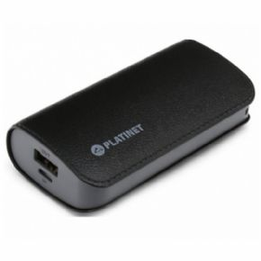 POWER BANK 5200mah CUERO NEGRO+CABLE PLATINET