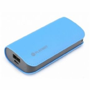 POWER BANK 5200mah CUERO AZUL+CABLE PLATINET
