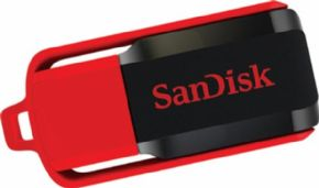 Memoria USB Sandisk Cruzer Blade switch 32GB.  Canon Digital Incluido de 0,29 €