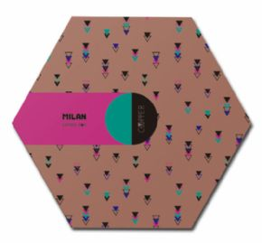 CAJA REGALO HEXAGONAL COPPER MULTICOLOR MILAN